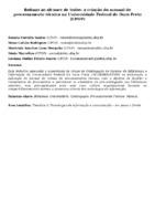 Rotinas ao alcance de todos: a criação do manual de processamento técnico na Universidade Federal de Ouro Preto (UFOP)