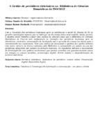 A Gestão de periódicos eletrônicos na  Biblioteca de Ciências Biomédicas da FIOCRUZ