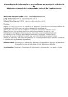 A tecnologia da informação e seus reflexos no serviço de referência daBiblioteca Central da Universidade Federal do Espírito Santo