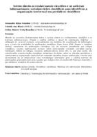 Acesso aberto ao conhecimento científico e as métricas informacionais: metainscrições científicas para identificar a organização intelectual em periódicos científicos