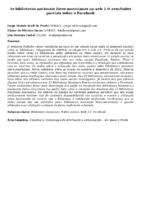 As bibliotecas nacionais ibero-americanas na web 2.0: resultados parciais sobre o Facebook