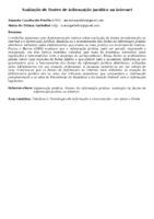 Avaliação de fontes de informação jurídica na internet