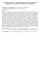 Avaliação qualitativa - sociocognitiva do processo de gestão de linguagens documentárias de bibliotecas universitárias