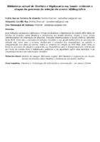 Biblioteca virtual de Bioética e Diplomacia em Saúde: critérios e etapas do processo de seleção do acervo bibliográfico