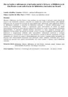 Da exclusão e sofrimento à inclusão social e leitura: a Biblioteca de São Paulo como referência de biblioteca inclusiva no Brasil