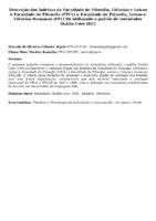 Descrição dos boletins da Faculdade de Filosofia, Ciências e Letras e Faculdade de Filosofia (FFCL) e Faculdade de Filosofia, Letras e Ciências Humanas (FFLCH) utilizando o padrão de metadados Dublin Core (DC)