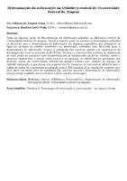 Disseminação da informação na biblioteca central da Universidade Federal de Alagoas