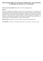 Disseminação seletiva de materiais de informação: uma perspectiva de utilização de sistemas de recomendação