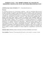 EADTECA UNIT:  UMA OPORTUNIDADE DE CRIAÇÃO DA  BIBLIOTECA DIGITAL DE AULAS GRAVADAS PELO EAD DA UNIT