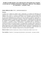 Gestão da informação e dos sistemas de informação para tomada de decisão no Instituto Federal de Educação, Ciência e Tecnologia do Amazonas – Campus Coari