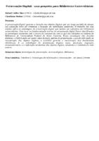 Preservação Digital:  uma proposta para Bibliotecas Universitárias