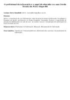 O profissional da informação e o papel de educador em uma Escola Técnica de Porto Alegre-RS