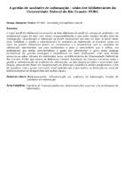 A gestão de unidades de informação : visão dos bibliotecários da Universidade Federal do Rio Grande- FURG