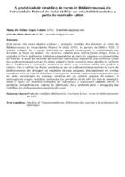 A produtividade científica do curso de Biblioteconomia da Universidade Federal de Goiás (UFG): um estudo bibliométrico a partir do currículo Lattes