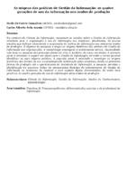 As origens das práticas de Gestão da Informação: as quatro gerações de uso da informação nos modos de produção