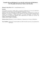 Atuação dos profissionais do serviço de referência da biblioteca Nilo Peçanha do Instituto Federal da Paraíba