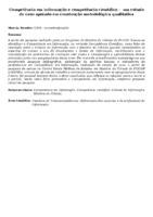 Competência em informação e competência científica -  um estudo de caso apoiado em construção metodológica qualitativa