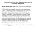 Considerações sobre o estágio obrigatório e a formação do profissional da informação