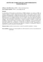 GESTÃO DO CONHECIMENTO COMO FERRAMENTA ADMINISTRATIVA