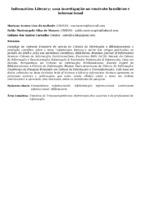 Information Literacy: uma investigação no contexto brasileiro e internacional
