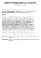 Marketing pessoal como competência em informação dos bibliotecários do SISTEMOTECA da Universidade Federal da Paraíba - Campus I