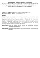 Necessidades informacionais de instituições técnico-profissionalizantes: estudo de usuários do Serviço Nacional de Aprendizagem Industrial de Minas Gerais (SENAI/MG) dos municípios de Matozinhos e Pedro Leopoldo