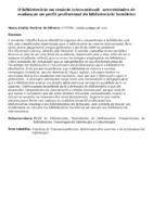 O bibliotecário no cenário internacional:  necessidades de mudanças no perfil profissional do bibliotecário brasileiro