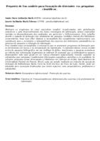 Proposta de Um modelo para formação de discentes  em pesquisas cientificas .