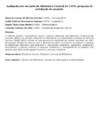 Avaliação dos serviços da Biblioteca Central da UEFS: pesquisa desatisfação do usuário
