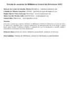 Estudo de usuários da Biblioteca Central da Eletrobras 2012