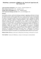 Marketing e promoção na Biblioteca da  Escola de Engenharia de São Carlos-USP