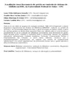 A avaliação como ferramenta de gestão no contexto do sistema de bibliotecas/SIBI, da Universidade Federal de Goiás – UFG