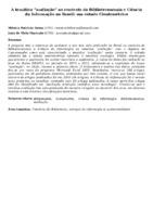 """A temática """"avaliação"""" no contexto da Biblioteconomia e Ciência da Informação no Brasil: um estudo Cientométrico"""