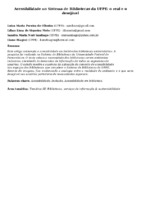 Acessibilidade no Sistema de Bibliotecas da UFPE: o real e o desejável