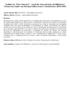 """Analise do """"Fale Conosco"""":  canal de comunicação da Biblioteca Virtual em Saúde em Doenças Infecciosas e Parasitárias (BVS-DIP)"""