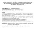 Análise sociométrica da rede de relacionamento das bibliotecas que constituem o Consórcio das Universidades Federais do Sul-Sudeste de Minas Gerais