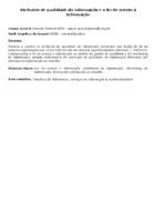Atributos de qualidade da informação e a lei de acesso à informação