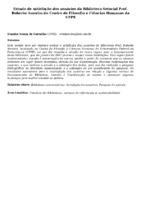 Estudo de satisfação dos usuários da Biblioteca Setorial Prof. Roberto Amorim do Centro de Filosofia e Ciências Humanas da UFPE