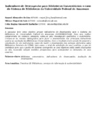 Indicadores de Desempenho para Bibliotecas Universitárias: o caso do Sistema de Bibliotecas da Universidade Federal do Amazonas