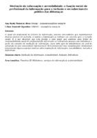 Mediação da informação e acessibilidade: a função social do profissional da informação para a inclusão e reconhecimento político das diferenças