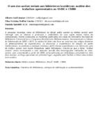 O uso das mídias sociais nas bibliotecas brasileiras: análise dos trabalhos apresentados no SNBU e CBBD