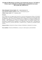 Revisão da literatura nas bases internacionais Scopus e ISI Web of Science para seleção de critérios para avaliação de serviços oferecidos por bibliotecas